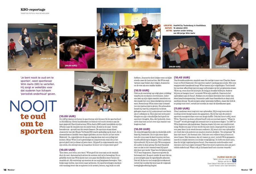 Nestor magazine, nooit te oud om te sporten