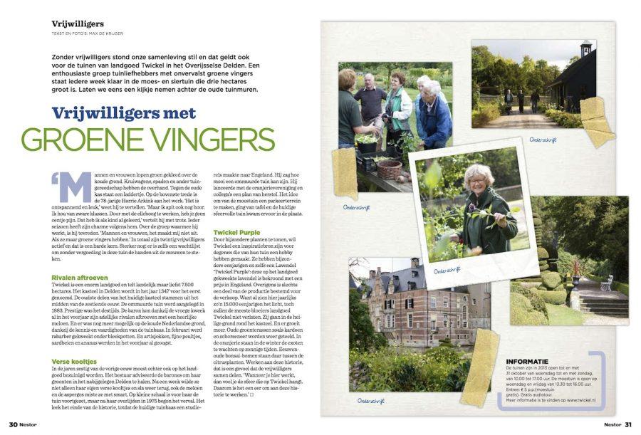 Nestor magazine, Groene vingers