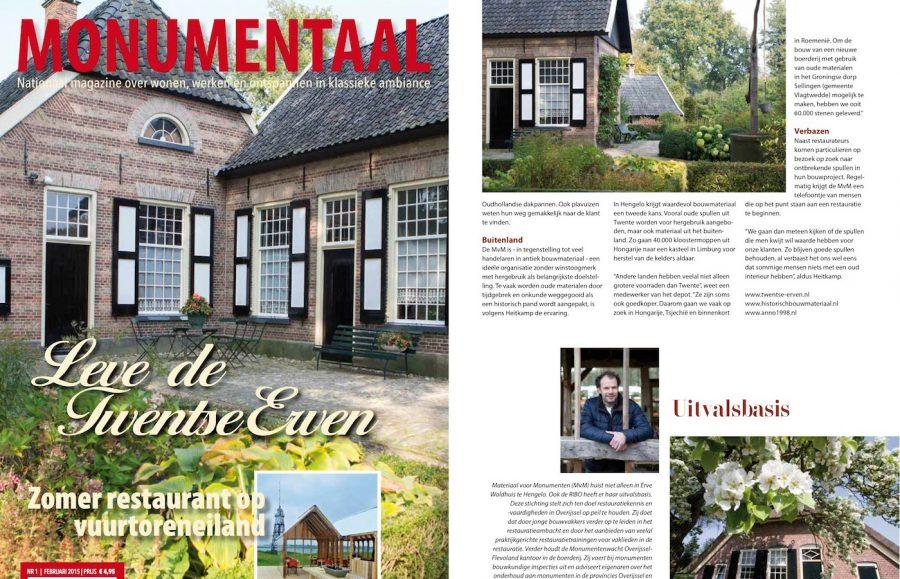 Hergebruik materialen, Magazine Monumentaal