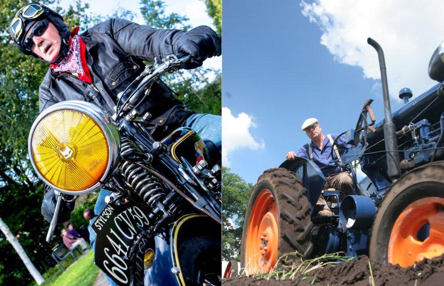 motorrijder en trekkerbestuurder