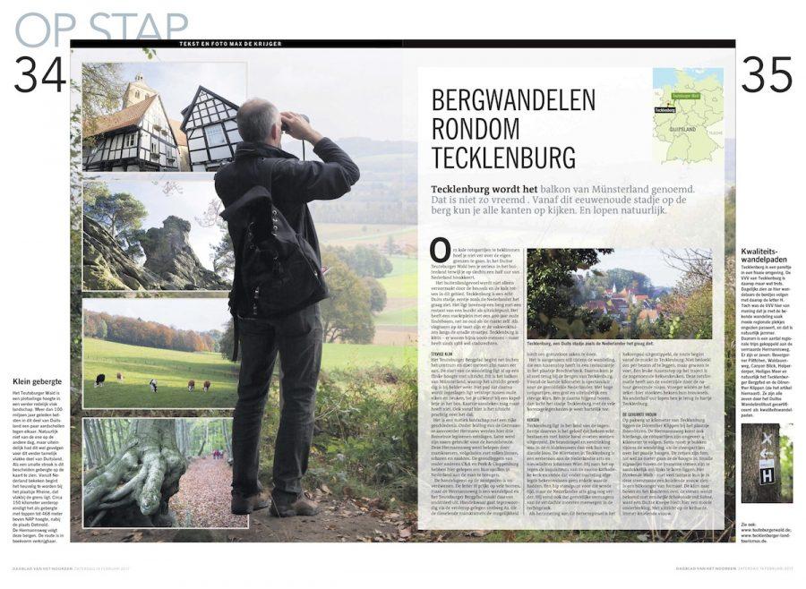 Bergwandelen rondom Tecklenburg, Dagblad van het Noorden