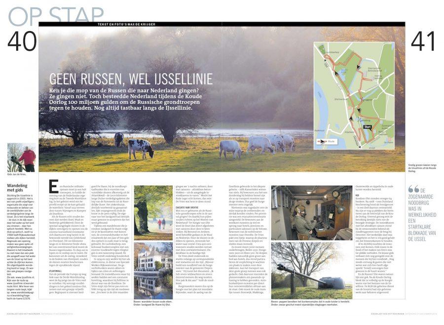 Geen Russen, wel IJssellinie, Dagblad van het Noorden