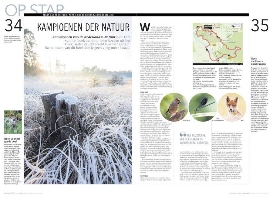Kampioenen der natuur, Dagblad van het Noorden